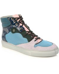 Balenciaga Blue and Green High-top Trainers - Lyst