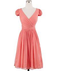 J.Crew Mirabelle Dress In Silk Chiffon pink - Lyst