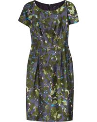 J.Crew - Lillian Watercolor-Floral Wool-Blend Dress - Lyst