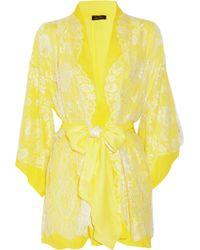Jenny Packham - Chantilly Lace and Silk-chiffon Robe - Lyst