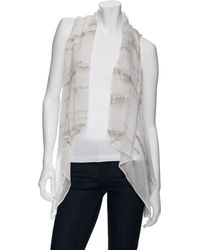 Maggie Ward - Ombre Silk Chiffon And Suede Vest - Lyst