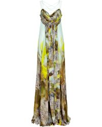 Matthew Williamson Printed Silk-chiffon Gown - Lyst