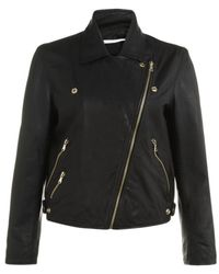 MAX&Co. - Leather Biker Jacket - Lyst