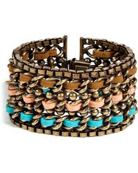 DANNIJO Oxidized Brass Plated Adrian Bracelet multicolor - Lyst
