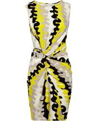 Diane von Furstenberg Alastrina Wave-print Stretch-silk Dress - Lyst