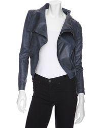 Georgie - Preorder Exclusive Distressed Moto Jacket: Slate - Lyst