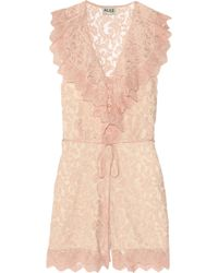Alice By Temperley Surya Lace Playsuit - Lyst
