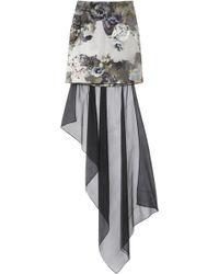 Aminaka Wilmont - Printed Chiffon and Stretch-cotton Mini Skirt - Lyst