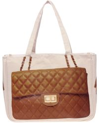 Thursday Friday | Thursday Friday Diamonds Cognac Tote | Lyst