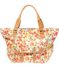 ASOS - Asos Floral Print Pocket Shopper Bag - Lyst