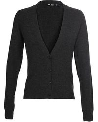 BLK DNM - Cashmere Cardigan With Leather Elbow Patches - Lyst
