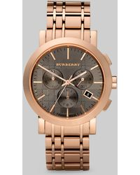 Burberry Classic Chronograph Watch/bracelet gold - Lyst