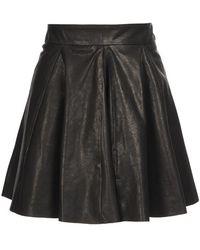 Felder Felder - Pleated Leather Mini-skirt - Lyst