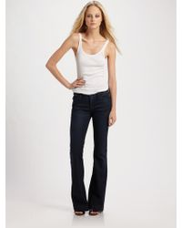 Goldsign Elan Medium Rise Flare Jeans - Lyst