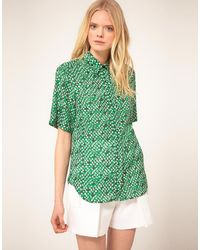 See By Chloé See By Chloe Print Shirt with Short Sleeve - Lyst