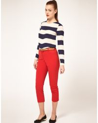 ASOS Collection Asos Slim Cropped Trousers - Lyst