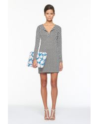 Diane von Furstenberg Reina Long Sleeve Dress - Lyst