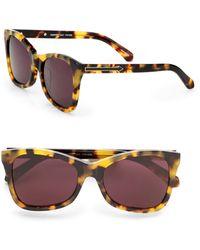 Karen Walker Modified Cateye Sunglasses/crazy Tortoise - Lyst