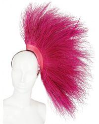 Nana' - Peacock Feathers On Net Headband - Lyst