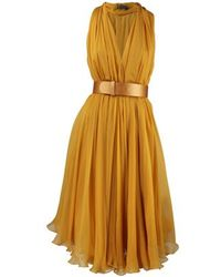 Alexander McQueen Alexander Mcqueen Dress yellow - Lyst