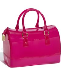 Furla Candy Bauletto Satchel pink - Lyst