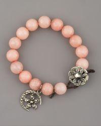 Love Heals - Pink Jade Bracelet - Lyst