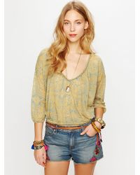 Free People Morroccan Patched Cutoff Shorts - Lyst