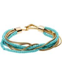 Michael Kors Turquoise Snake Chain Multi-strand Bracelet - Lyst