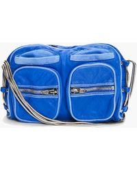 Alexander Wang Blue Brenda Zip Chain Bag - Lyst