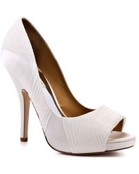 Badgley Mischka Wayde - White Satin - Lyst