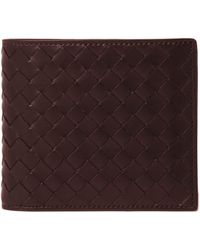 Bottega Veneta Intrecciato Leather Billfold Wallet - Lyst