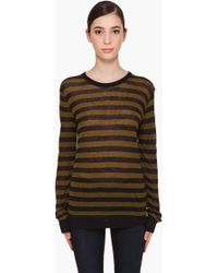 T By Alexander Wang Long Sleeve Striped T-shirt - Lyst