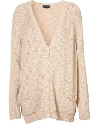 Topshop Knitted Pastel Wide Cardi - Lyst