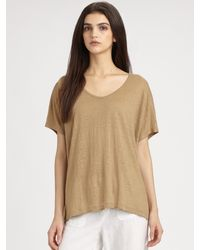 Vince Draped V-neck Tee - Lyst