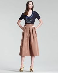 Burberry Prorsum - Pleated Heritage Skirt - Lyst