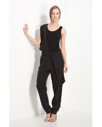 3.1 Phillip Lim Silk Crêpe De Chine Trousers with Collapsible Panels - Lyst