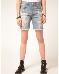 ASOS Collection Asos Distressed Boyfriend Shorts - Lyst