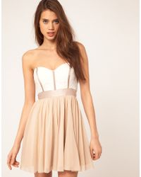 ASOS Collection Skater Dress with Lace Bustier - Lyst