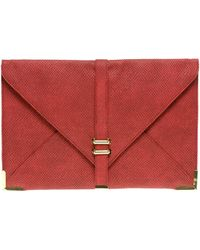 ASOS Collection Slot Through Envelope Clutch - Lyst