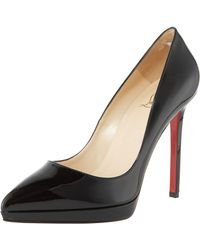 Christian Louboutin Point-toe Patent Pump - Lyst