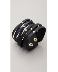 Linea Pelle | Sliced Cuff with Dome Studs | Lyst