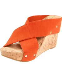 Lucky Brand Miller2 Cork Wedges - Lyst