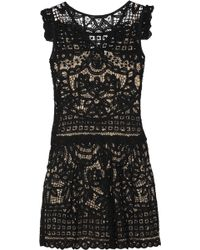 Marc By Marc Jacobs Floral Lace Dress black - Lyst