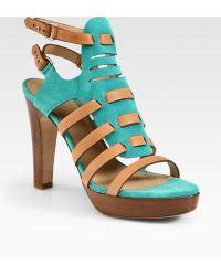 Rag & Bone Apollo Suede and Leather Platform Sandals - Lyst