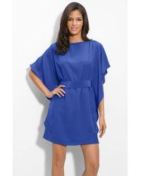 Suzi Chin for Maggy Boutique Tie Waist Silk Dress - Lyst
