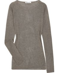 T By Alexander Wang Fitted Jersey Sweater - Lyst