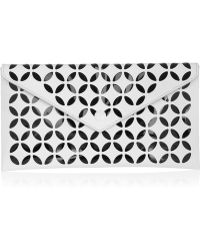 Alaïa Laser-cut Leather Clutch - Lyst