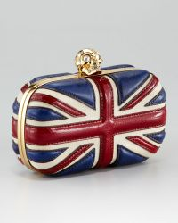 Alexander McQueen Britannia Skullclasp Clutch Bag - Lyst