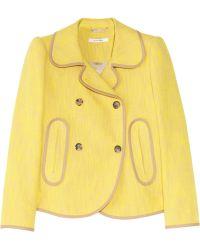 Carven Cotton Blend-Canvas Jacket yellow - Lyst
