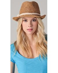 Genie by Eugenia Kim - Darcy Crocheted Straw Fedora - Lyst